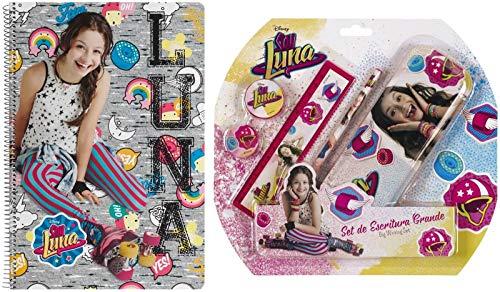 Disney Soy Luna Juego de escritura grande, bloc escolar, cuaderno DIN A4
