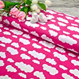 Emily&Joe's fabrics Stoff Jersey Wolken Wölkchen