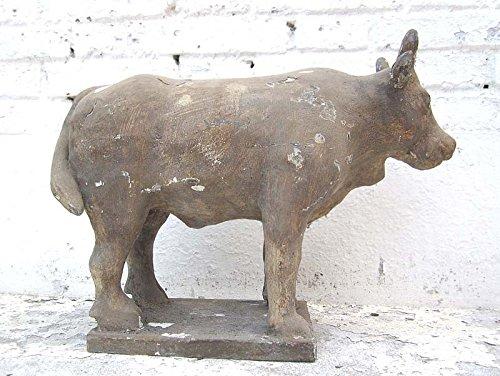 Sculpture büffel astrologie figurine buddhistisch peuplier bois naturel de 100 ans luxury park