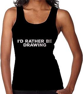 RHEYJQA Id Rather Be Drawing Women's Vest