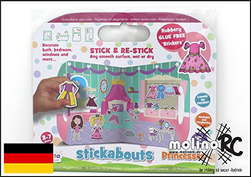 molinoRC Stickabouts   Princess   Prinzessin   für Lillifee Anna ELSA Fans   abwaschbare Sticker   kleben überall gehen Wieder Weg   Kindersticker