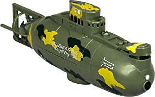 Mini RC Nuclear Submarine High Speed Remote Control Drone Children's Gift by Sacow (Green)