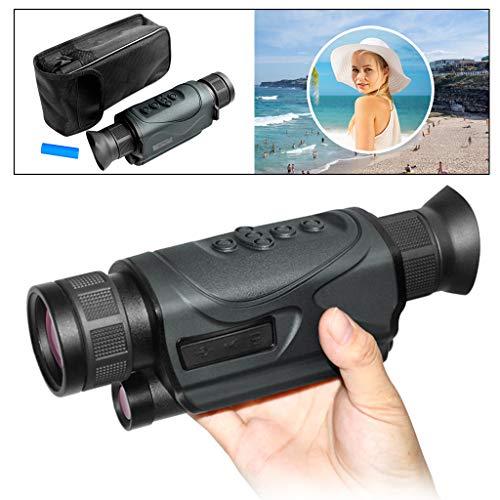 RLF LF Update monokulair nachtzichtapparaat, 5 x 43 infrarood digitaal 500 miljoen pixels nachtzicht verrekijker met 32 G, kan een foto video maken en verlichting maken
