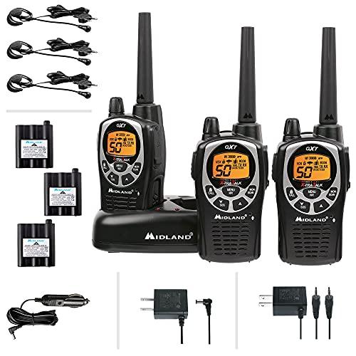 Midland 50 Channel Waterproof GMRS Two-Way Radio - Long Range Walkie Talkie with...