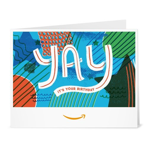 Amazon Gift Card - Print - Yay It's Your Birthday