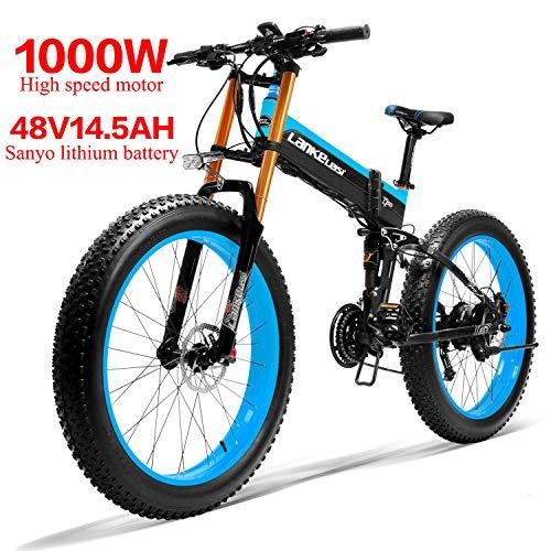 LANKELEISI 750PLUS 48V14.5AH 1000W MoteurTout-Puissant Vélo Électrique Puissant 26 '' 4.0 Gros Pneu Ebike 27...