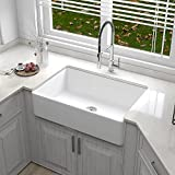DeerValley DV-1K119 Farmhouse Kitchen Sink Apron Front Porcelain...