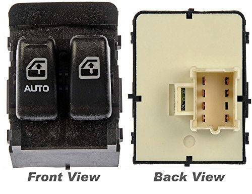 APDTY 012136 Power Window Master Switch Fits Front Left Driver Side 2000-2005 Chevy Venture 2000-2004 Oldsmobile Silhouette (2 Black Button; Black Trim; Replaces 10387305, 10419308)