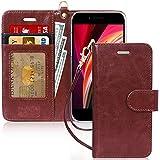 iPhone SE ケース 第2世代 iPhone8 ケース iPhone7ケース FYY 手帳型 高級PU レザー カード収納 スタンド機能 マグネット式 ストラップ付き 財布型 スマホケース iPhone SE 第2世代 (2020年モデル) / iPhone8 / iPhone7 4.7インチ対応 (ブラウン)