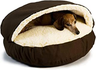 Luxury Cozy Cave Dog Bed with Microsuede Easy Care with Washable Cover,Small Medium Puppy Sleeping Bag Cat Nest,Hygienic,H...