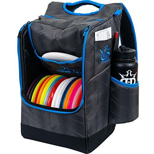 Dynamic Discs Sniper Disc Golf Backpack | 16 Disc Storage in Main Compartment | Deep Top Zippered Pocket to Hold Additional Disc Golf Accessories | Two Water Bottle Holders (Nightshade)