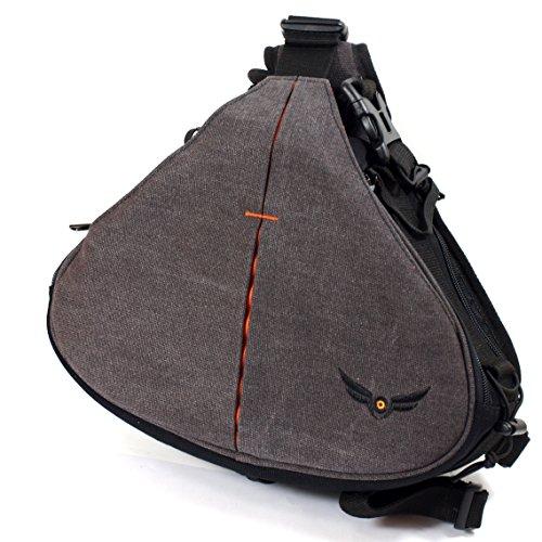 Firmcam Gleann Bag Sling Kameratasche, Fotorucksack, Fototasche - Slingbag für Spiegelreflex-Kameras, Bridgekameras und Kompaktkameras