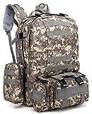 ZJR Outdoor Mountaineering Backpacks Unisex Travel Backpack Tactical Waterproof Bag Multifunction Camouflage Hiking Backpack (G)