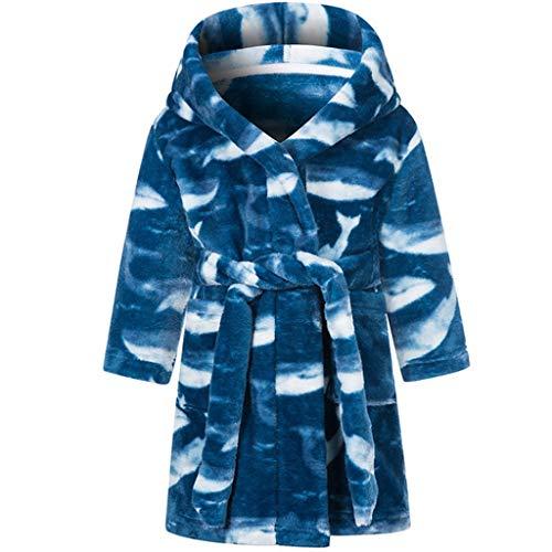 JFTMY Albornoz y Pijama de Terciopelo para niños, de niña, Ropa de niña, Ropa de hogar Abrigada de Invierno, de niño, Pijama (Color : C, Size : 2T)