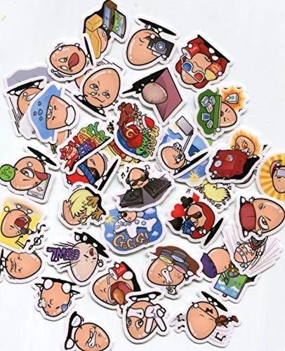DSSJ Line Emoji Stickers Egg Brother Manual casero Álbum Decoración Pegatinas 40 Hojas Z 512