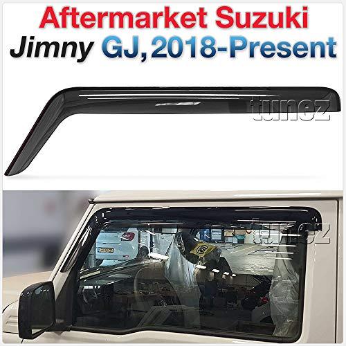 TUNEZ® Fenstertür Visier Wetterschutz Windabweiser Kompatibel mit Suzuki Jimny GJ 2019 2020 2021 Installation nur an den vorderen 2 Türen.