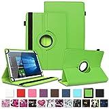 NAUC Tablet Schutzhülle für Sony Xperia Z4 aus Kunstleder Hülle Tasche Standfunktion 360° Drehbar Motiven Cover Universal Hülle, Farben:Grün