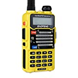 XINKSD Radio US Yellow UV-5R V2+ Dual-Band 145-148/420-450 MHz FM Ham Two-Way Radio, Improved Stronger Case, Enhanced Features (UV5RV2YELLOW)