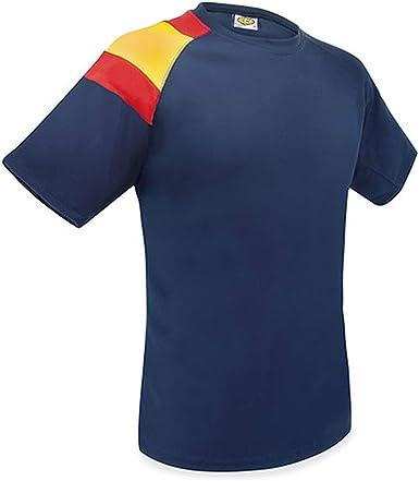 GARGOLA.ES OPERADORES DIGITALES Camisetas Entrenamiento Bandera D&F- Azul Oscuro- con la Bandera de España- Camiseta Manga Corta Hombre ...