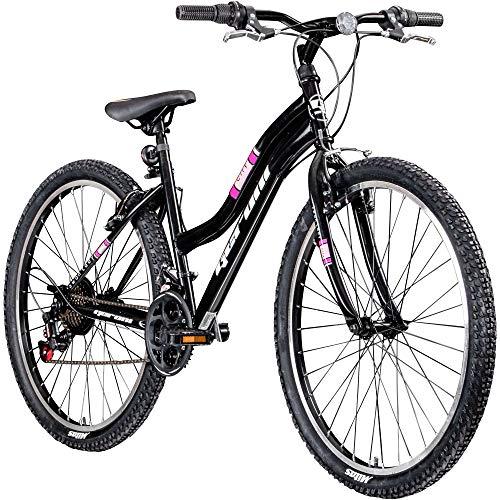 Damenfahrrad 26 Zoll Mädchen Fahrrad Damenrad Mountainbike Geroni Swan Lady MTB (schwarz/pink)