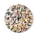 Reloj de Pared, Reloj de Pared silencioso y sin tictac, Camuflaje Militar, Camuflaje, Rama Antigua, Reloj fácil de Leer