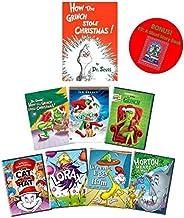 Dr. Seuss' How the Grinch Stole Christmas DVD + Book Set: 1966 Boris Karloff Animated/2000 Jim Carrey/2018 Benedict Cumber...