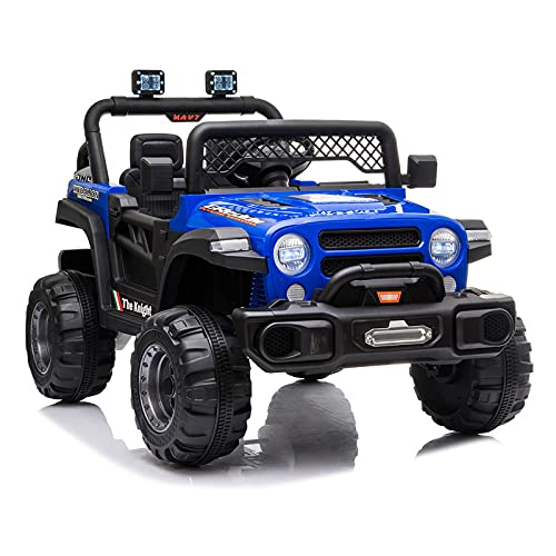 JIMIPARK Ride On Truck, Ride on Car with Remote Control 12V , Off-Road UTV, Motorized Vehicles with Music, Story, Solid Seat Belt, Wearable Wheels, 3 Speed, Spring Suspension, LED Light for Kids 3-6 -  JIMUPARK, JIMU79478596