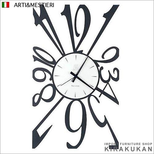 アルティ・エ・メスティエリ ARTI&MESTIERI イタリア製 掛け時計【SQUASH】am00809