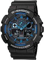 Casio G-Shock Watch For Men Ana-Digi Dial Resin Band - GA-100-1A2