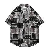 SSBZYES Camisas De Hombre Camisas De Verano De Manga Corta Tops De Hombre Camisetas Camisas De Manga Corta De Hombre Estampado Retro Camisas Sueltas De Manga Corta De Gran Tamaño