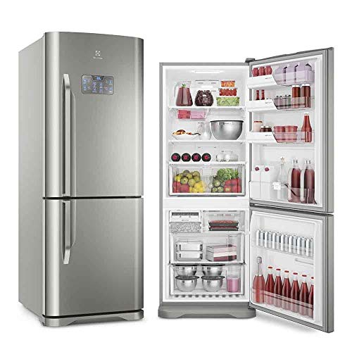 Geladeira Frost Free Electrolux IB53X Bottom Freezer Inverter Inox 454L 127V