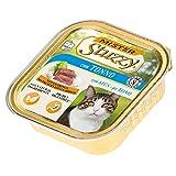 Stuzzy Mister, Comida hmeda para Gatos Adultos, Sabor atn, lnea pat y Carne en trozos - Total 3,2 kg (32 tarrinas x 100 gr)