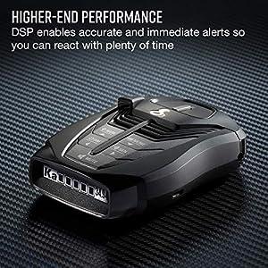 Cobra RAD 480i Laser Radar Detector – Long Range Detection, Bluetooth, iRadar App, LaserEye Front and Rear Detection, Next Gen IVT Filtering, Black