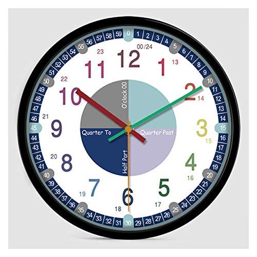 ZHANGNING Reloj de Pared Vintage Reloj de la Pared de la Pared de la Pared de los niños el Reloj de la Pared del Reloj de la Pared del Reloj Educativo Reloj de Pared Decorativo