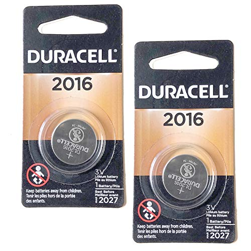 2X Duracell 3V Lithium Coin Battery Replaces FA, 280-202/4/6, SB-T11, 5000LC, BR2016