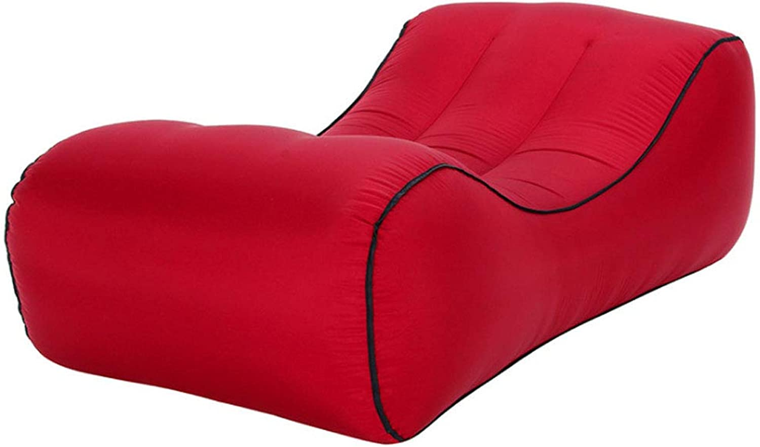Air Sofa Bed Indoor Outdoor Portable Lounge Chair Moisture Proof mat Water Inflatable Lazy Sofa Bed,WineRed,SUPERLAREG