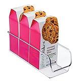 iDesign Aufbewahrungsbox, schmale Vorratsdose ohne Deckel aus Kunststoff, stapelbarer Küchenorganizer für Vorratsschrank und Kühlschrank, durchsichtig
