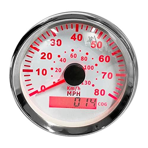 Medidor de velocidad de coche, pantalla LCD de odómetro digital de alta precisión de 85 Mm para modificación de automóviles para coches, barcos, yates, RV