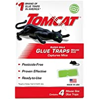4-Pack Tomcat Super Hold Glue Traps Mouse Size