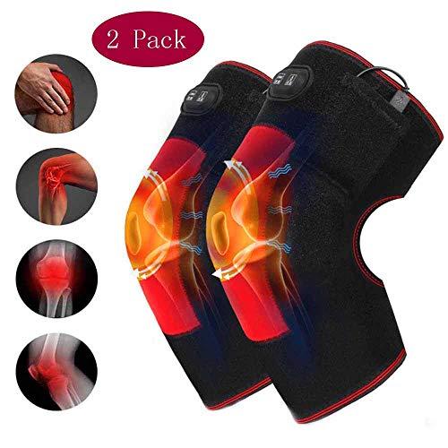 Langyinh Verwarmde kniebrace, elektrische hitte kniesteun massageapparaat voor gewrichtspijn, artritis, meniscus, spierpijnverlichting, unisex