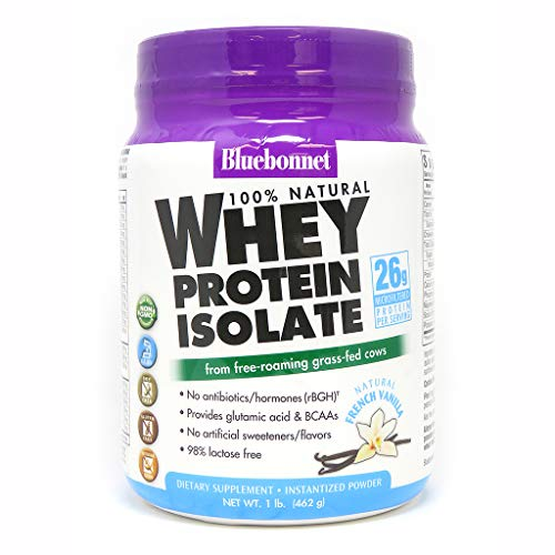 cheap Bluebonnet Nutrition Grass Fed Whey Protein Isolate Powder, BCAAs and…