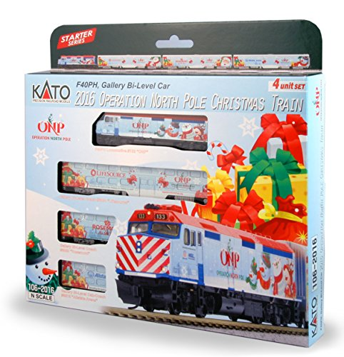 Kato USA Model Train Products N 2016 Operation North Pole Christmas Train Locomotive & Cars