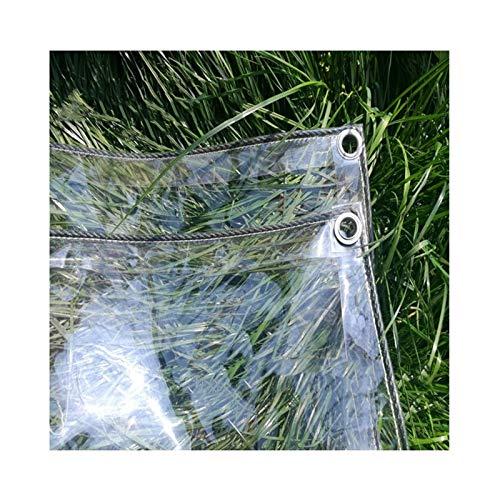 ALGFree Lonas Impermeables Exterior Transparente, Toldo Impermeable Transparente Impermeable Espesar Cristal Claro Rip Stop Tarea Pesada Jardín Al Aire Libre Protectora Cubierta, 18 Tamaños