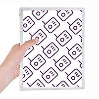 ラジオはシールパターンを説明 硬質プラスチックルーズリーフノートノート