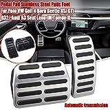 Pedales de Coche Set For accesorios del coche del polo golf 4 Escarabajo RSi GTI R32 / Accesorios for automóviles A3 Seat Leon 1M Toledo 1L cojín del pedal del coche de acero inoxidable Pads Foot Peda