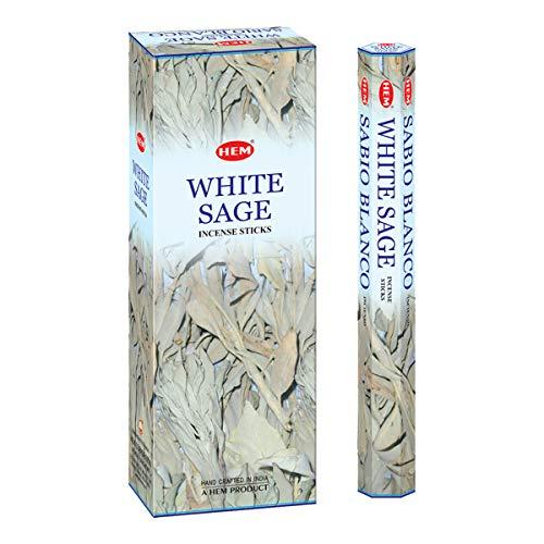 HEM - Tubo de Incienso (20 g, 6 Unidades), Color Blanco
