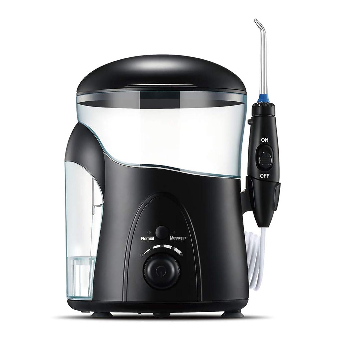 継承説得力のある小石コードレス水デンタルフロス器具、家庭や旅行のための600mlの洗浄可能な水タンクと歯ポータブル2モードの歯クリーナーのための水のフロス器具