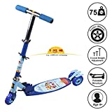 Toyzone Doremon Kids Skate Kick Scooter -Multicolour, for Age 4 Years+