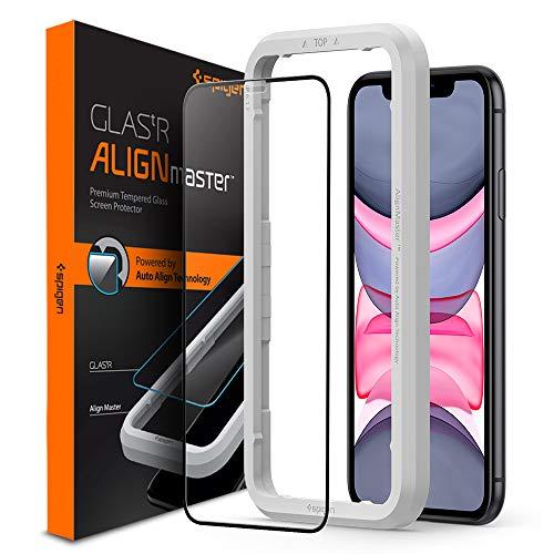 Spigen AlignMaster Cobertura Completa Protector Pantalla para iPhone 11 y iPhone XR - 1 Unidad