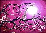 tzhwlh 5D Diamond Painting Full Round Drill Kits für Erwachsene geklebte Stickerei Kreuzstich Kunsthandwerk für Home Wall Decor Quelle des Baumes-30x30cm(12x12in)